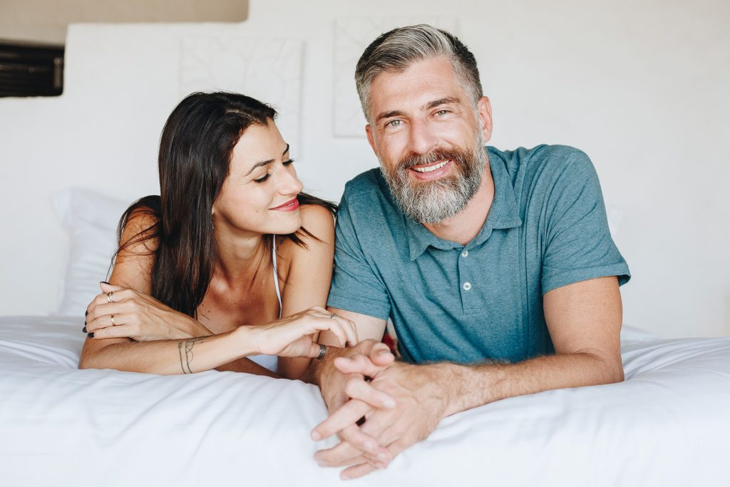 Couple spending time in bed