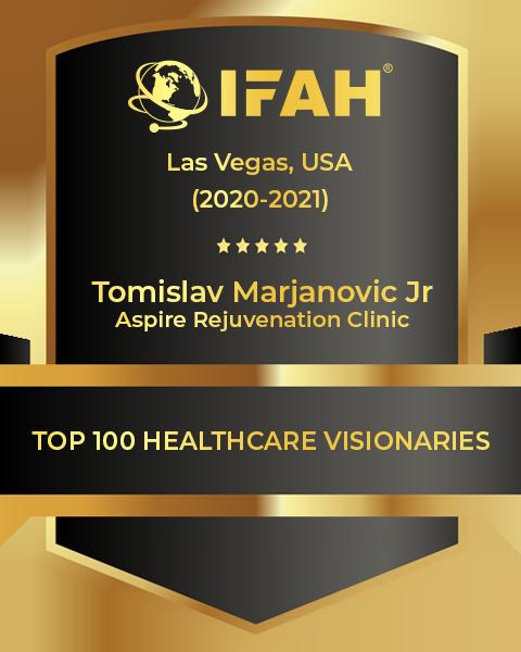 IFAH Top 100 Healthcare Visionary - Tomo Marjanovic - Aspire Rejuvenation Clinic