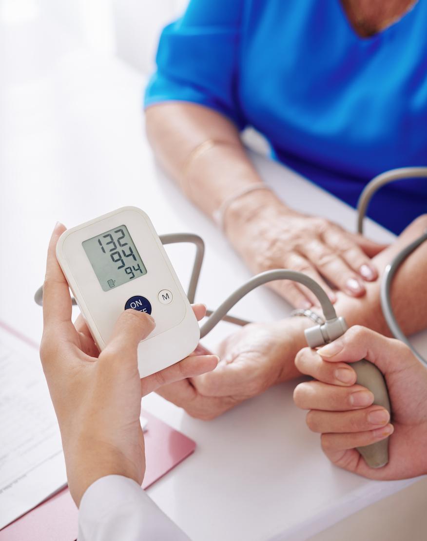 Woman Getting Blood Pressure Taken